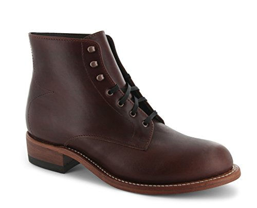P W Minor Georgia Boot - Made In USA - Men's Therapeutic Extra Depth Boot: Brown 6.5 Wide (D) Lace