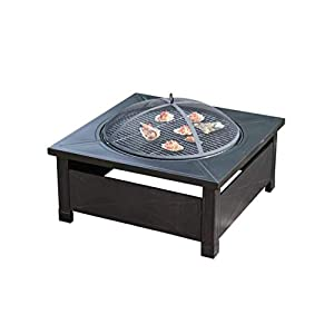 Outdoor Fire Pit Metal Square