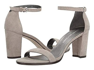 Stuart Weitzman Womens Nearlynude Suede Open Toe Casual, Fossil Suede, Size