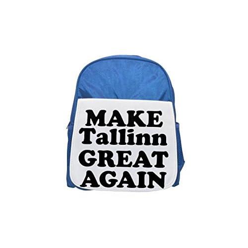 Fotomax Mochila azul para niños con estampado Make Tallinn, bonita mochila, bonita mochila negra, mochila negra, mochilas de moda, grandes mochilas de moda, mochila negra de moda