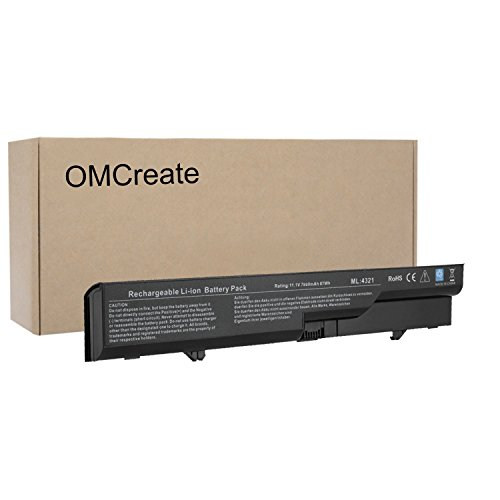 OMCreate 9-Cell Laptop Battery for HP 620 / HP Probook 4525S 4420s 4320 4320s 4320t 4321 4321s, fits PH06 PH09 593572-001 593573-001 - 12 Months - Hp 4420s Battery