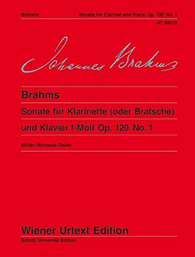 (Clarinet Sonata Op 120 No 1 F Minor Op 1 (Wiener Urtext))