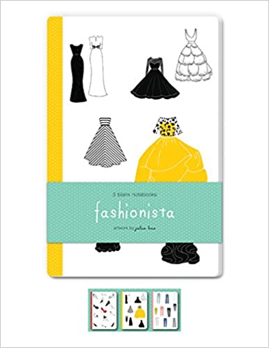 fashionista blank notebooks set of three 48 page blank notebooks