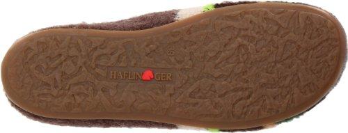 Haflinger Prisma Damen Flache Hausschuhe Braun (braunmeliert 63)