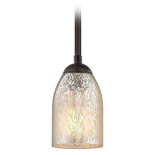 Bronze Mini-Pendant Light Mercury Glass