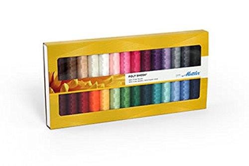 Mettler Polysheen Polyester Machine Embroidery Thread Gift Set Kit Multicoloured - per pack of 28