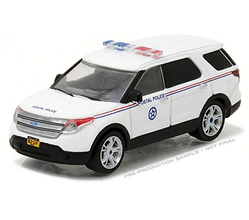 GreenLight 1:64 Blue Collar Collection Series 2 2014 Ford Explorer Postal Police Diecast Vehicle