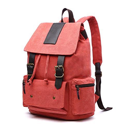 pulgadas lona viaje vendimia Orange para mujer la para Mochila Haowen de de mochila 15 de hombre escuela viaje bolso de portátil casual de AwEgZqxf