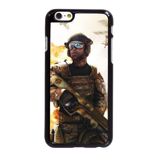Ghost Recon Tom Clancy G7H17 Future Soldier L9S1RM coque iPhone 6 Plus de 5,5 pouces cas de couverture de téléphone portable coque noire DD9ELU2KX