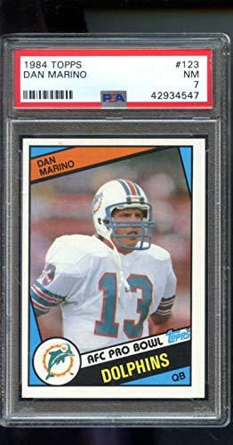 1984 Topps #123 Dan Marino RC ROOKIE PSA 7 NM Graded Football Card ()