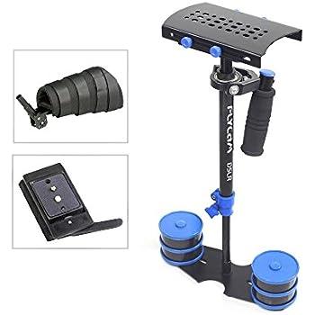 "FLYCAM DSLR Nano Blue 22.5""/57cm Mini Handheld Stabilizer with Arm Support Brace| Small Steadycam for DSLR Video Cameras up to 1.5kg/3.3lb | Free Quick Release & Storage Bag (DSLR-NANO-QR-BL)"