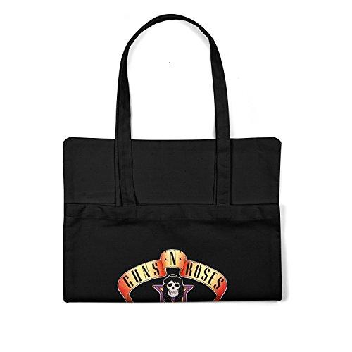"Bolsa de tela ""Guns N' Roses Appetite For Destruction"" - tote bag shopping bag 100% algodón LaMAGLIERIA, Negro"