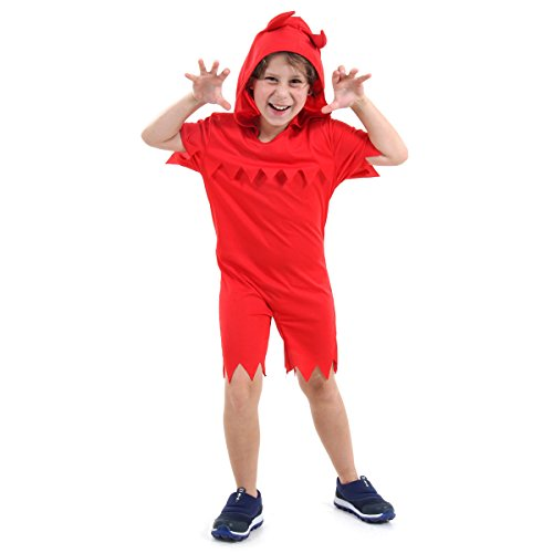 Diabo Infantil 10440-M Sulamericana Fantasias Vermelho M 6/8 Anos