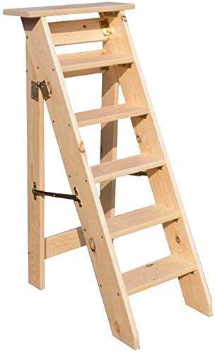 SED Escaleras de tijera multiusos, escalera de madera plegable de 6 escalones para taburete antideslizante Ascend Attic,Color de madera: Amazon.es: Bricolaje y herramientas