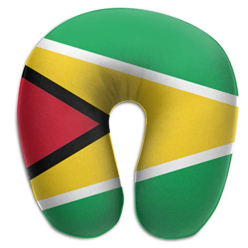 - LINSHANGYI Guyana Flag Gift U Shape Neck Pillow Lightweight Travel Kit Cervical Pillow for Airplane, Train, Train, Office