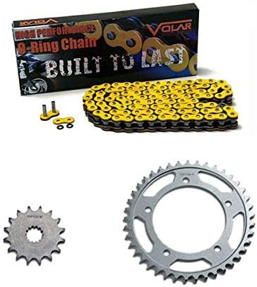 Yellow for 1996-2000 BMW F650 Funduro Volar O-Ring Chain and Sprocket Kit