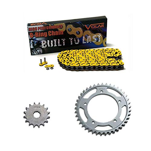 (2006-2018 Yamaha YZF R6 O-Ring Chain and Sprocket Kit Yellow 530 Conv)