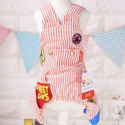 Buy Veena Stripe Dog Jumpsuit Pet Puppy Costumes Sweater Spring