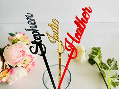 Amazon.com: Personalized Wedding Drink Stirrers Name Stir