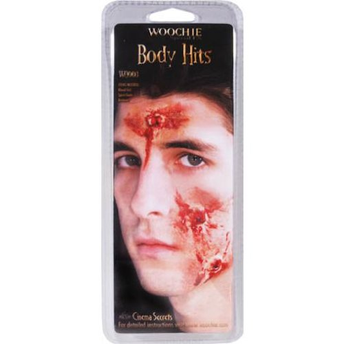 Latex Prosthetic Moulage Wounds by Woochie Body Hits Prosthetic (Halloween Prosthetics)