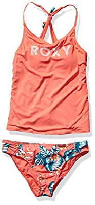 Roxy Big Girls' Floral Time Tankini Set