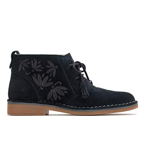 Hush Puppies Women's Cyra Catelyn Embroidery Ankle Boot, Bla