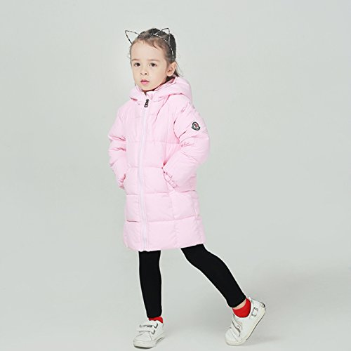 Happy Cherry Baby Girls Winter Hooded Coat Zipper up Puffer Outwear Windproof Thicken Down Jacket 1-2T Pink by Happy Cherry (Image #7)