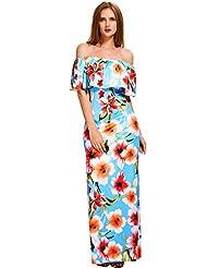 Ninimour Elegant Women's Floral Off Shoulder Dress