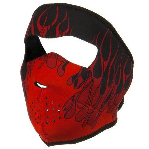 Neoprene Full Face Mask - Big Red Flames W11S23D