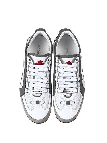 Dsquared2 Herren Snm043413060001m182 Weiss / Grau Leder Chaussures De Sport
