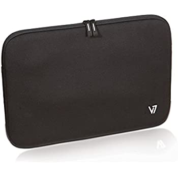 """V7 16"""" Vantage Shock and Water Resistant Notebook Sleeve For Dell, ASUS, HP, Acer, Toshiba, Apple, Lenovo notebooks and laptops (CSV1-9N) - BLACK"""