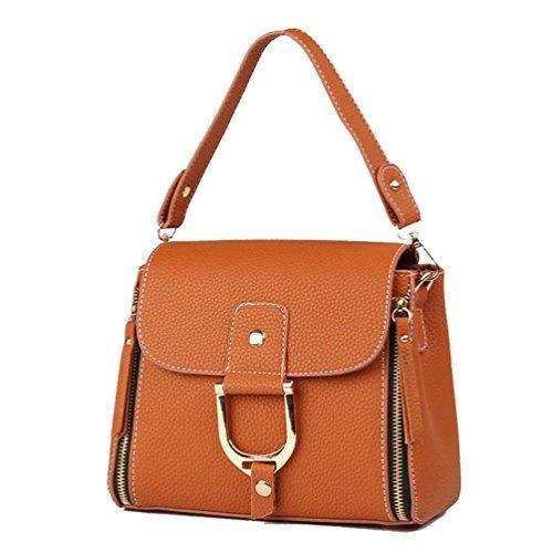À Épaule Terreux Main Boucle Fonction Durable Bag Mode Femme Messenger Imperméable Sac Lock ZhiYuanAN Jaune Simple Multi a07wYq