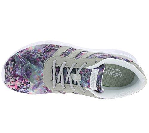 adidas Lite Racer W, Zapatilla de Deporte Baja del Cuello para Mujer, Blanco (Ftwbla/Onicla/Plamat), 38 EU