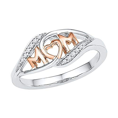 - Aunimeifly Rings Women Hipster Double Tone Rose Gold Diamond Rings Jewelry Best Gift to Mother