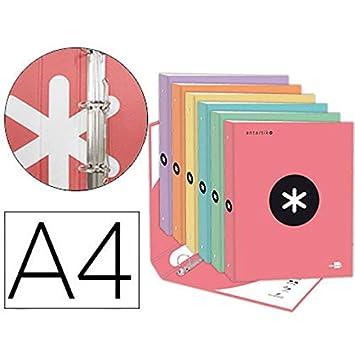 ARCHIVADOR 4 ANILLAS A4 DE COLORES: Amazon.es: Oficina y ...