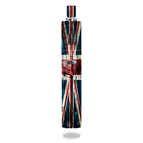 JoyeTech eGo ONE MEGA 2600mAh Vape E-Cig Mod Box Vinyl DECAL STICKER Skin Wrap / Vintage British Flag UK PRINTED Image