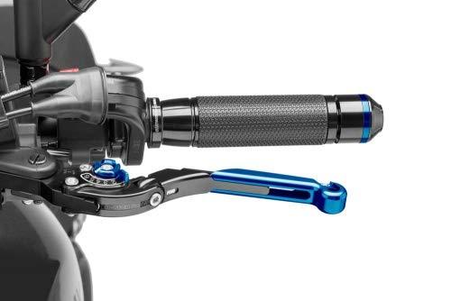2007-2014 schwarz Puig Brems-Kupplungshebel zB Suzuki GSF 650 Bandit Knick-und verstellbar Versteller blau WVCZ Schiebeelement blau