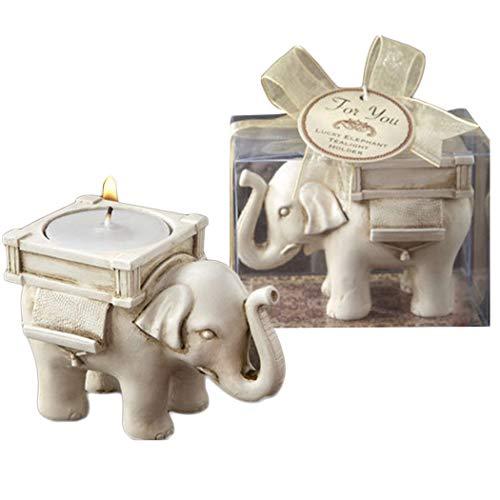 Elephant Votive Candle Holder - Candle Tealight Holder Candleholders for Votive Birthday Candles Home Decoration Elephant Design Pack of 2