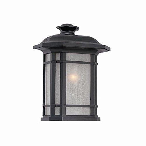 Acclaim 8103BK Somerset Collection Pocket Lantern 1-Light Outdoor Light Fixture, Matte (Cast Aluminum Small Flush)