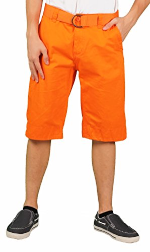 Price comparison product image MO7 Men's Enzyme Wash Chino Short,  Orange,  Size 36