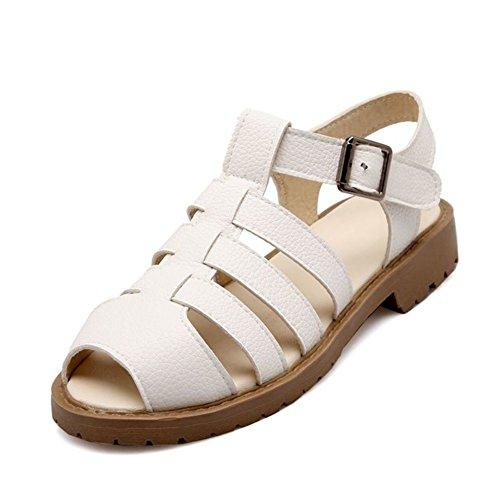 zapatos de la manera/Zapatos de mujer vintage/Zapatos de hebilla calada A