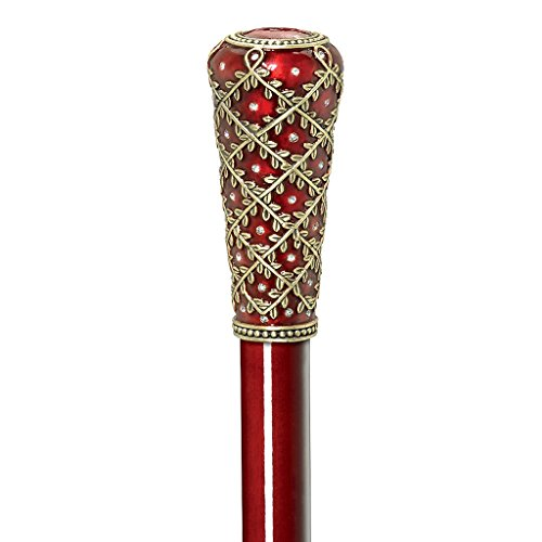 - Design Toscano Imperial Collection Romanov Style Premium Enameled Crown of Laurel Walking Stick, Full Color