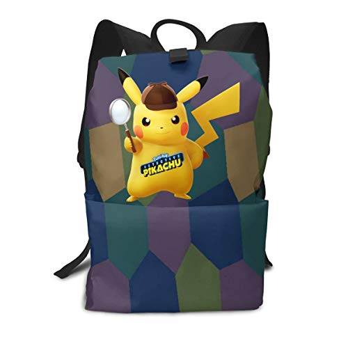 Price comparison product image Greatcountry Detective Pika-chu Backpack Daypacks Lightweight Large Space Durable Waterproof Younth Adult Backpack