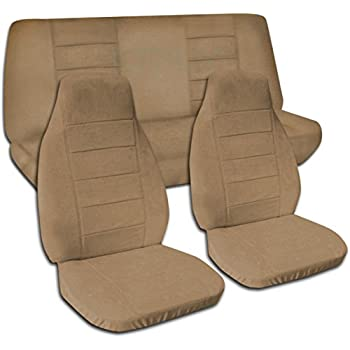 Designcovers Fits 1997 2006 Jeep Wrangler TJ Solid Color Seat Covers: Brown    Full