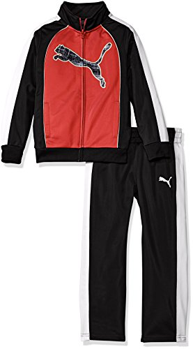 UPC 888822180786, PUMA Little Boys' Toddler 2 Piece Colorblocked Cat Track Jacket and Pant Set, Fierce Red, 2T