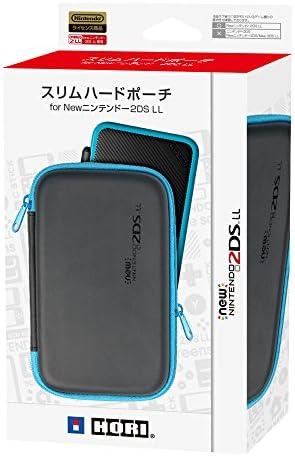 【2DS LL対応】スリムハードポーチ for Newニンテンドー2DS LL ブラック×レッド