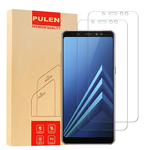 [2-Pack] Samsung Galaxy A8 plus 2018 Screen Protector, PULEN 0.3MM Slim And 9H Hardness Tempered Glass [Anti-Scratch] [Bubble Free] Extreme Hardness with Lifetime Replacement Warranty