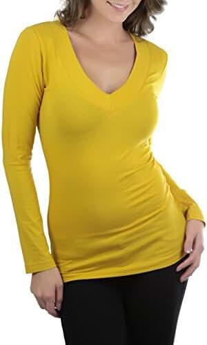 ToBeInStyle Women's Long Sleeve V-Neck T-Shirt -