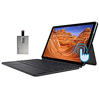 "2020 Lenovo Chromebook Duet 2-in-1 10.1"" FHD Touchscreen Tablet Computer, MediaTek Helio P60T CPU, 4GB RAM, 128GB SSD, ARM G72 MP3 Graphics, Dual Webcam, USB-C, Chrome OS, Blue+Gray, 32GB USB Card"