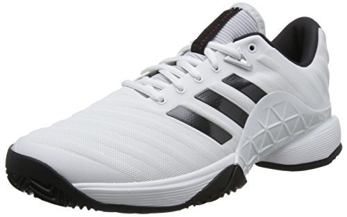 Adidas Negbás 2018 Plamat ftwbla 000 De Tennis Chaussures Blanc Barricade Homme rrq81H7